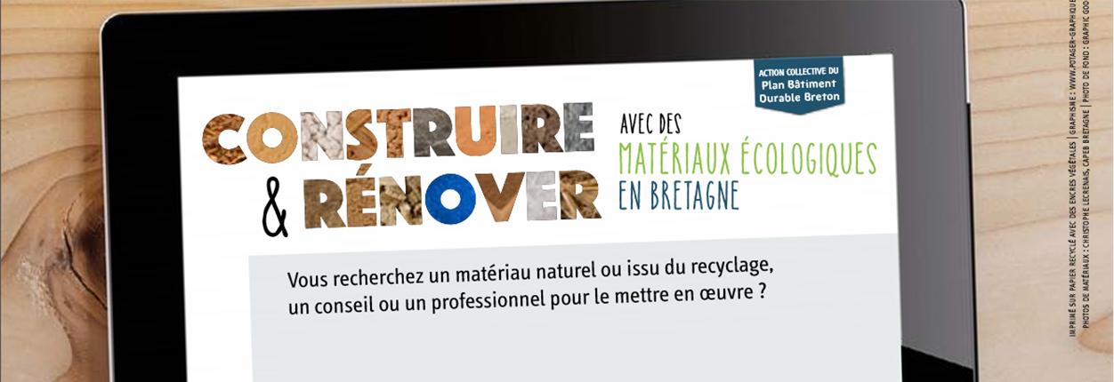 Banniere annuaire des professionnels travaillant avec des éco-matériaux pour la filière bâtiment