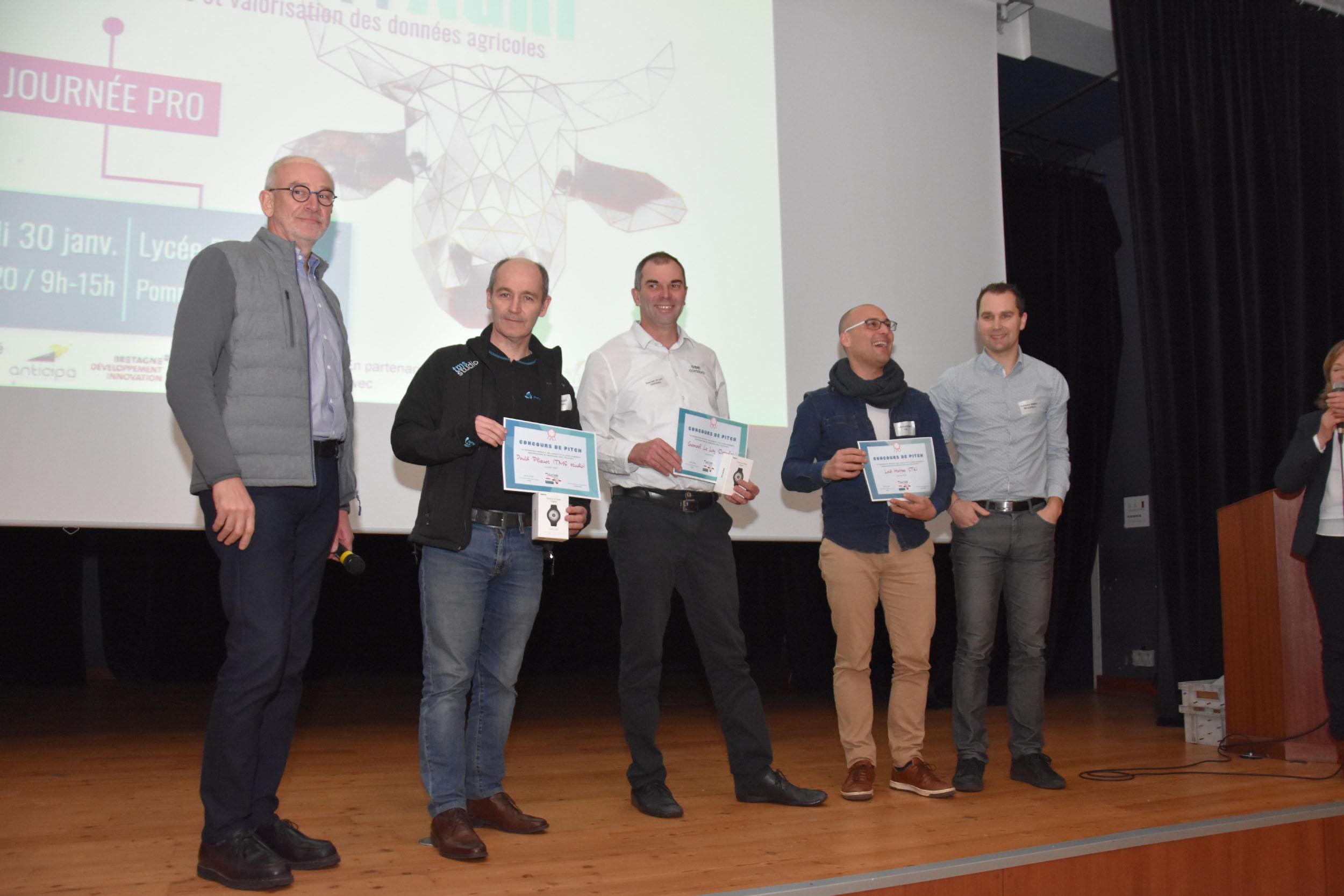 Podium remise des prix smart agri 2020